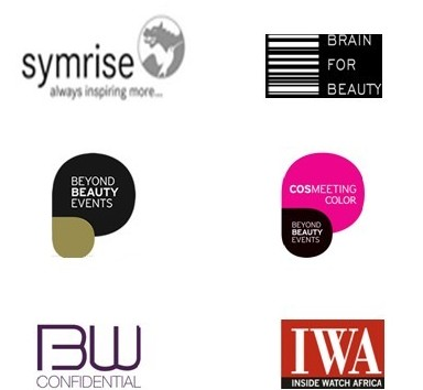 Logos Symrise, Beyond Beauty Events, Brain for Beauty, BW Confidential, Inside Watch Africa